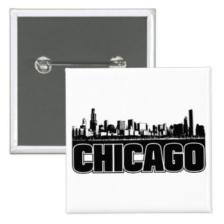 Chicago Skyline Button