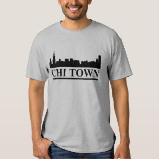 Chicago Skyline Chi Town Mens T-shirt