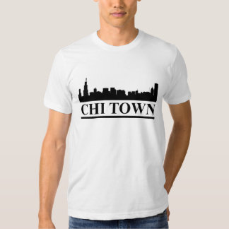 Chicago Skyline Chi Town Mens Tee Sshirt
