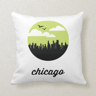 Chicago Skyline   Chicago Illinois Pillow