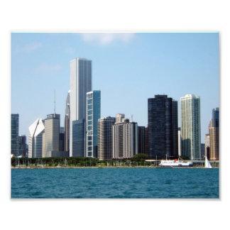 Chicago Skyline Cityscape Photography Print Photo Art
