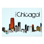 Chicago Skyline Custom Invites