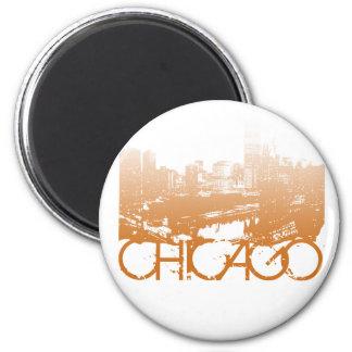 Chicago Skyline Design Magnet