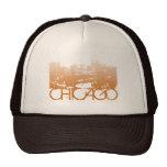 Chicago Skyline Design Trucker Hats