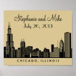 Chicago Skyline Design | Wedding Reception Print Posters