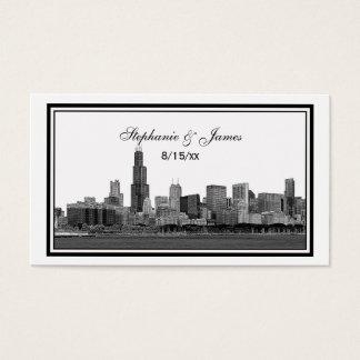 Chicago Skyline Etched Framed Escort Cards