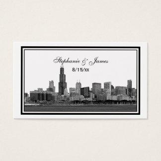 Chicago Skyline Etched Framed Place Cards