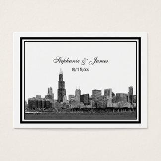 Chicago Skyline Etched Framed Place Cards #2