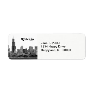 Chicago Skyline Etched Label