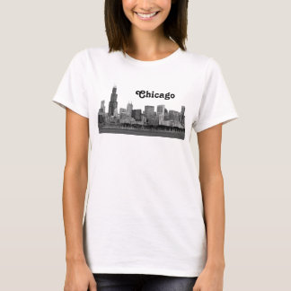 Chicago Skyline Etched T-Shirt