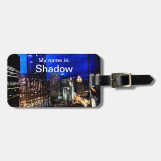 Chicago Skyline (For Pet Carriers) Luggage Tag