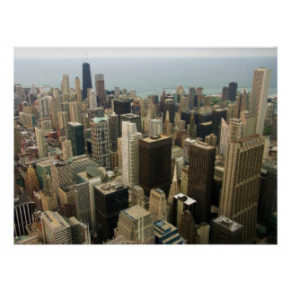 Chicago Skyline from Sears now Willis Tower Poster