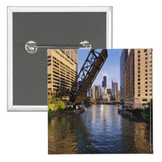 Chicago Skyline from the Kinzie St Bridge Pins
