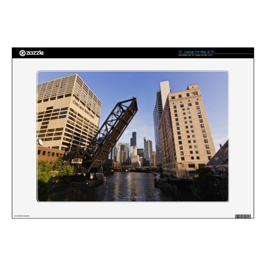 Chicago Skyline from the Kinzie Street Bridge Laptop Decal