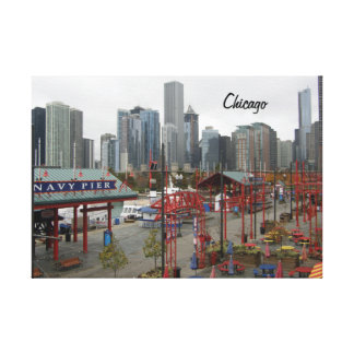 Chicago Skyline from the Navy Pier Canvas Print