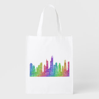 Chicago skyline grocery bag