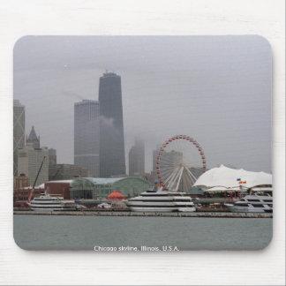 Chicago skyline, Illinois, U.S.A. Mouse Pad