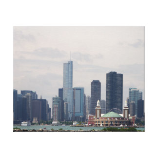 Chicago Skyline in Color Canvas Print