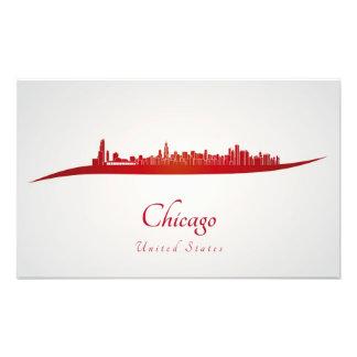 Chicago skyline in network photo print