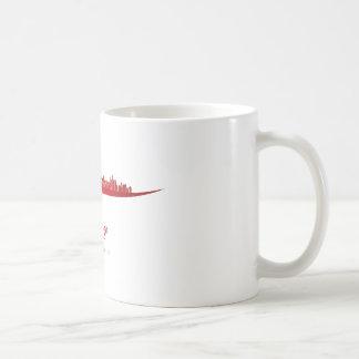 Chicago skyline in red taza de café