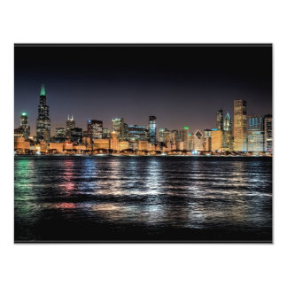CHICAGO SKYLINE 4.25X5.5 PAPER INVITATION CARD