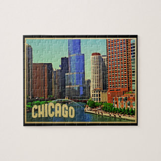 Chicago Skyline Jigsaw Puzzle