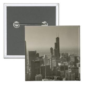 Chicago Skyline, John Hancock Center Skydeck 2 Pinback Button