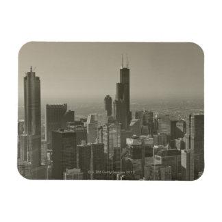 Chicago Skyline, John Hancock Center Skydeck 2 Rectangular Photo Magnet