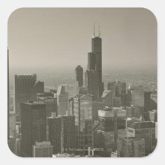 Chicago Skyline, John Hancock Center Skydeck 2 Square Sticker