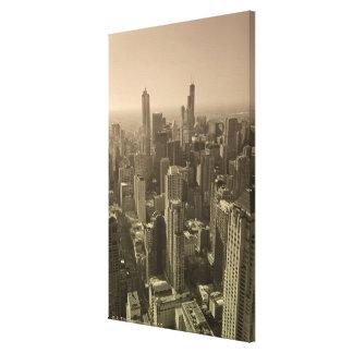 Chicago Skyline, John Hancock Center Skydeck Canvas Print