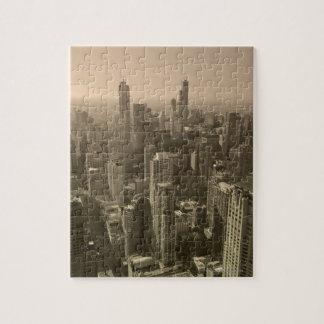 Chicago Skyline, John Hancock Center Skydeck Jigsaw Puzzle