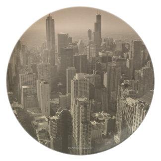 Chicago Skyline, John Hancock Center Skydeck Melamine Plate