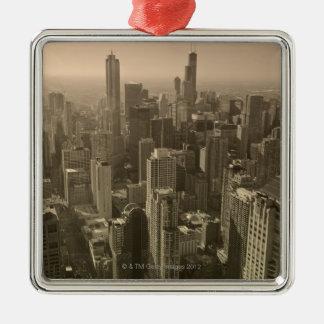 Chicago Skyline, John Hancock Center Skydeck Metal Ornament