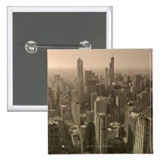 Chicago Skyline, John Hancock Center Skydeck Pinback Button