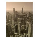 Chicago Skyline, John Hancock Center Skydeck Postcard