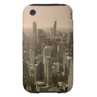 Chicago Skyline, John Hancock Center Skydeck Tough iPhone 3 Cover