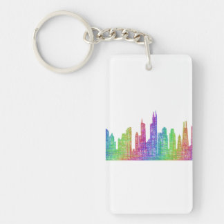 Chicago skyline keychain