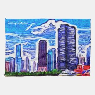 Chicago Skyline Kitchen Towel