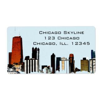 Chicago Skyline Shipping Label
