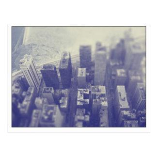 Chicago Skyline lake view Postcard
