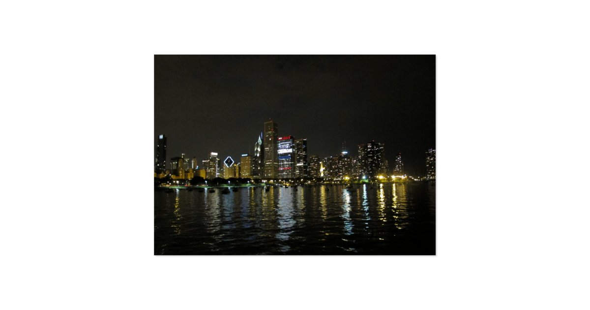 Chicago skyline large business card