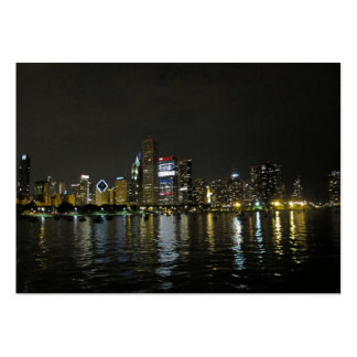 Chicago skyline large business cards (Pack of 100)