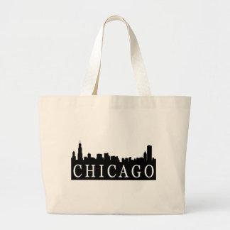 Chicago Skyline Large Tote Bag