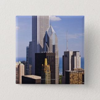 Chicago Skyline Looking towards lake Michigan Pinback Button