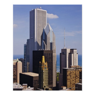 Chicago Skyline Looking towards lake Michigan Poster
