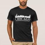 Chicago Skyline Mens American Apparel Black T-Shirt