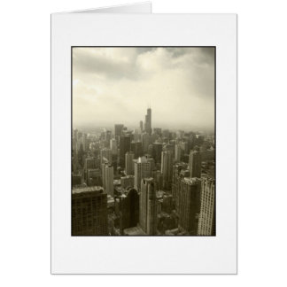 Chicago Skyline Mono Card