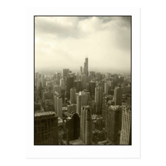 Chicago Skyline Mono Postcard