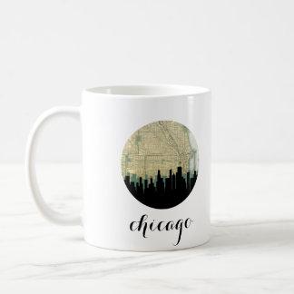 Chicago skyline mug | Chicago, Illinois map