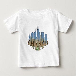 Chicago Skyline newwave beachy Baby T-Shirt
